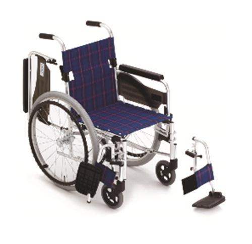 [미키] MTWSW-43J 알루미늄휠체어 (팔걸이젖힘/발판착탈/등받이꺽기) |알미늄휠체어 장애인휠체어 고급형휠체어 재활이동기기 미키휠체어