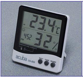 [BODYCOM] 바디컴 벽걸이&탁상겸용 아쿠바 디지털 온습도계 CS-201 (측정값자동메모리) 전자식온도계 전자식습도계