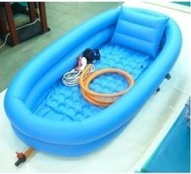 [영화] YH-2004 튜브형이동욕조 (2단/보급형) /이동형목욕욕조 공기주입욕조 이동식욕조 환자용품 간병용품 튜브욕조 목욕용품