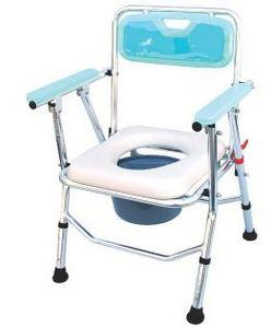 접이식이동변기 ENE-063 (목욕의자겸용/높이조절가능/쿠션시트/등받이형) /접이식변기 목욕의자 이동용변기 환자용좌변기 이동식좌변기 휴대용좌변기 샤워체어